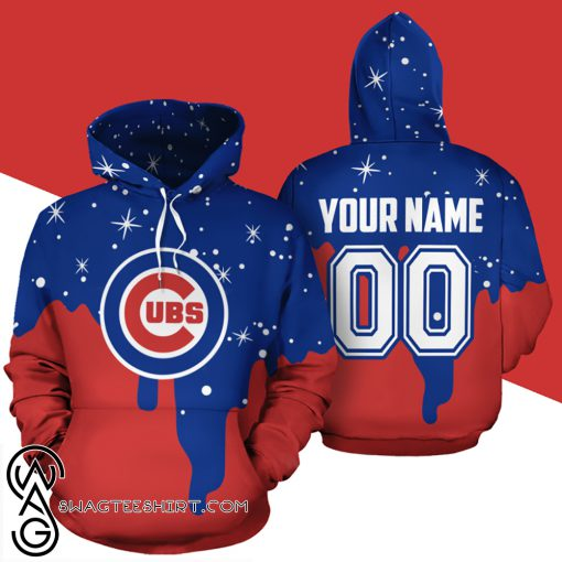 Personalized name and number chicago cubs all over print shirt