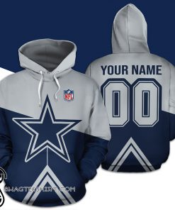Personalized name and number dallas cowboys all over print shirt