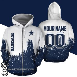 Personalized name and number dallas cowboys galaxy all over print shirt