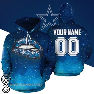 Personalized name and number dallas cowboys glitter lips full printing shirt