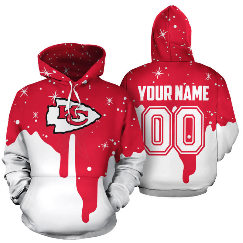 Personalized name and number kansas city chiefs all over print hoodie