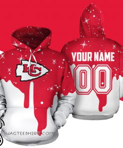 Personalized name and number kansas city chiefs all over print shirt