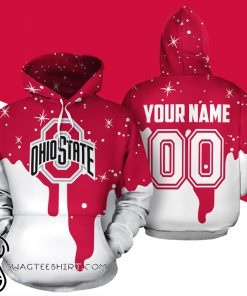 Personalized name and number ohio state buckeyes all over print shirt