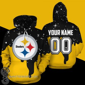 Personalized name and number pittsburgh steelers all over print shirt