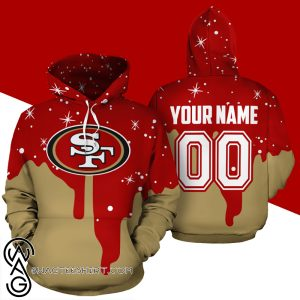 Personalized name and number san francisco 49ers all over printed shirt