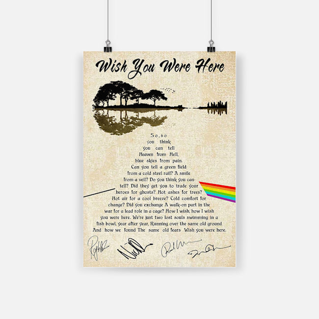 Pink Floyd Wish You Were Here Lyrics Poster