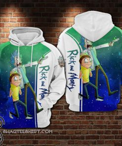Rick and morty galaxy all over printed shirt