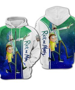Rick and morty galaxy all over printed zip hoodie 1