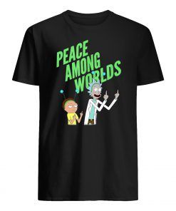 Rick and morty peace among worlds mens shirt