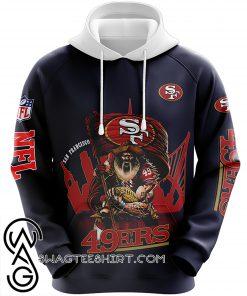 San francisco 49ers sourdough sam all over print hoodie