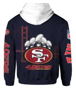 San francisco 49ers sourdough sam all over print hoodie - back