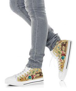 Sewing pattern high top sneakers 3