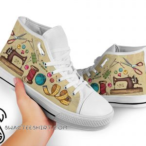 Sewing pattern high top sneakers