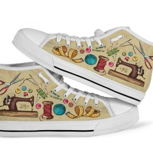 Sewing pattern high top sneakers 4