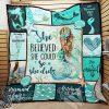 She believed she could so she did mermaid blanket