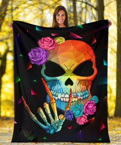 Sign language skull blanket 3