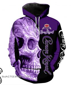 Skull Crown Royal all over print hoodie