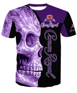 Skull Crown Royal all over print tshirt 2