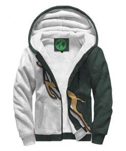 South africa springboks forever full printing fleece hoodie