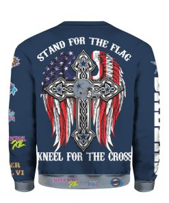 Stand for the flag kneel for the cross dallas cowboys all over print sweatshirt - back