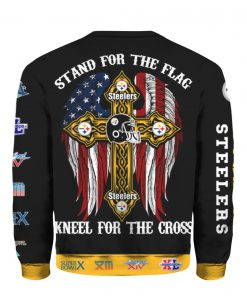 Stand for the flag kneel for the cross pittsburgh steelers all over print sweatshirt - back