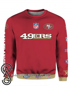 Stand for the flag kneel for the cross san francisco 49ers all over print shirt