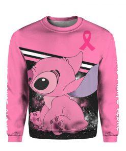 Stitch breast cancer awareness all over print sweatshirt