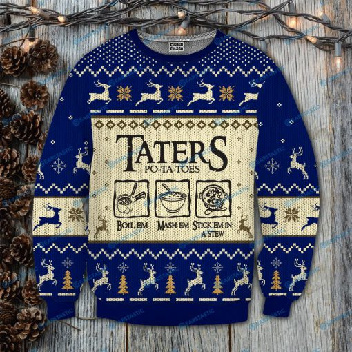 Taters po-ta-toes recipe lord of the rings ugly christmas sweatshirt 2