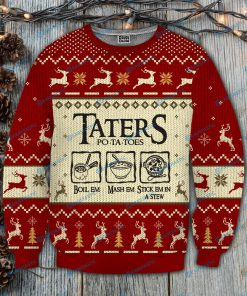 Taters po-ta-toes recipe lord of the rings ugly christmas sweatshirt 4