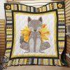 The wolf sunflower quilt