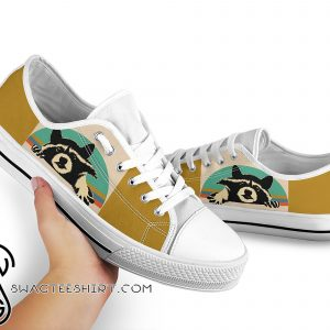 Vintage raccoon low top canvas sneakers