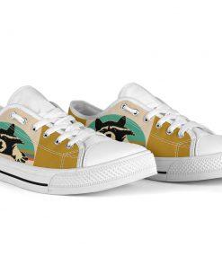 Vintage raccoon low top canvas sneakers 4