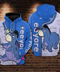 Winnie-the-pooh eeyore all over print zip hoodie