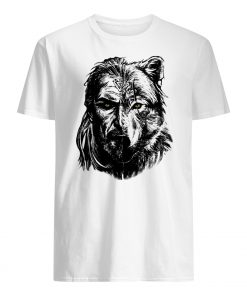 Wolf viking warrior mens shirt