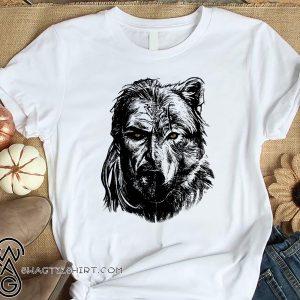Wolf viking warrior shirt