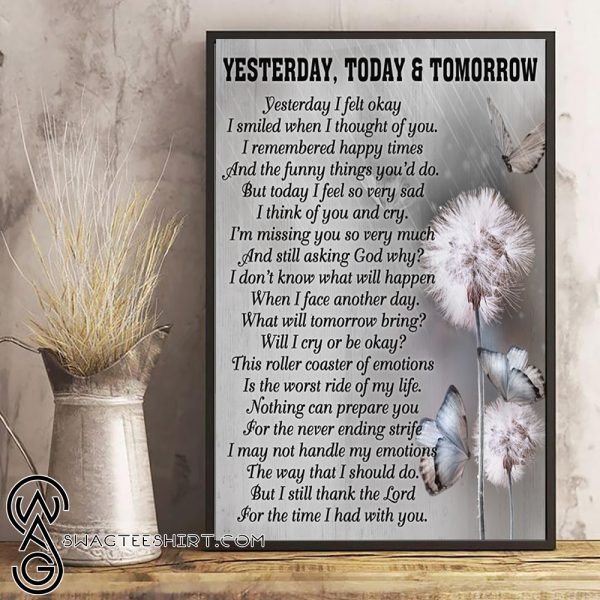 Yesterday today and tomorrow butterfly andelion poster 4