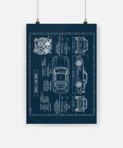1992 rx 7 fd3s mazda rx 7 car structure design poster 1