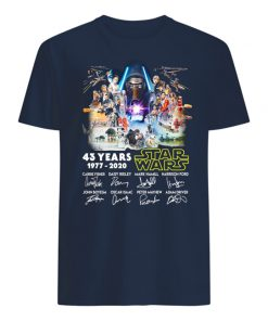43 years of star wars 1977 2020 signature thank you for the memories mens shirt