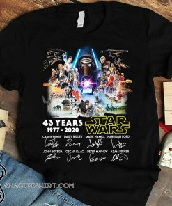 43 years of star wars 1977 2020 signature thank you for the memories shirt