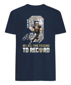 9 drew brees nfl all-time passing to record signature mens shirt