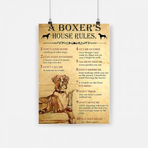 A boxer's house rules poster 4