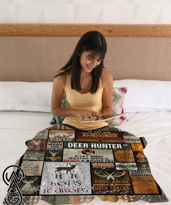 A day spent wasting ammo deer hunter fleece blanket