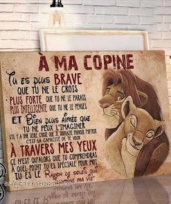 A ma copine the lion king canvas