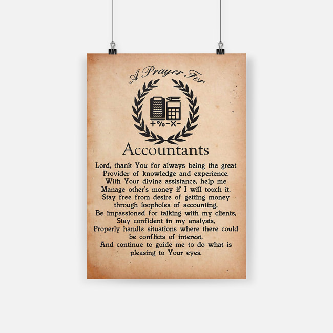 A prayer for accountants lord thank you for always being the great provider poster 2