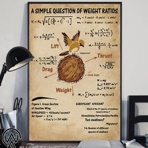 A simple question of weight ratios poster