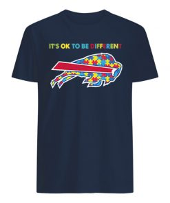 Autism awareness it's ok to be different buffalo bills mens shirt