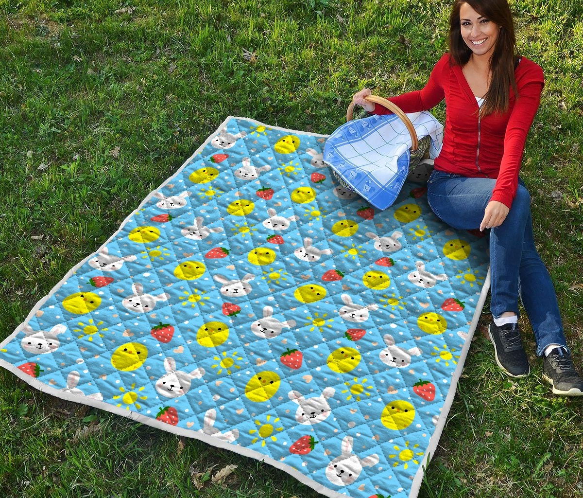 Baby chicken and bunny quilt 1