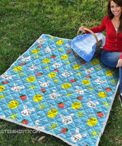 Baby chicken and bunny quilt