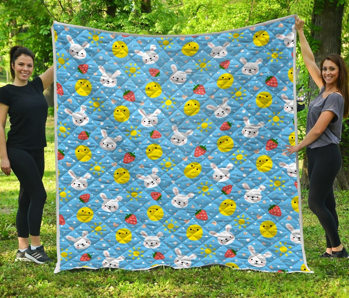 Baby chicken and bunny quilt 3