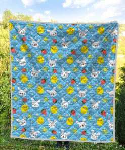 Baby chicken and bunny quilt 4